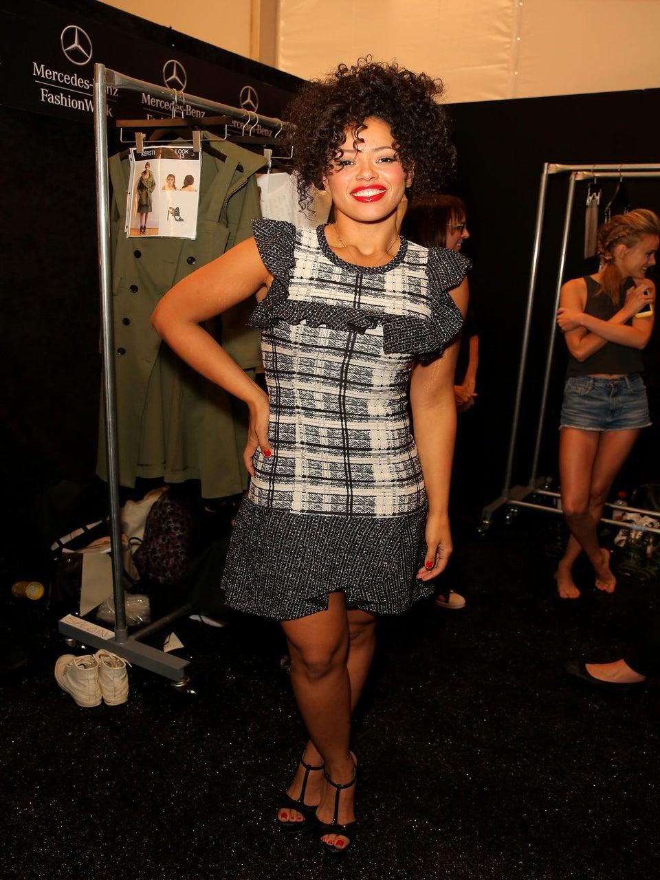 Elle Varner Talks Fashion at Marissa Webb Show