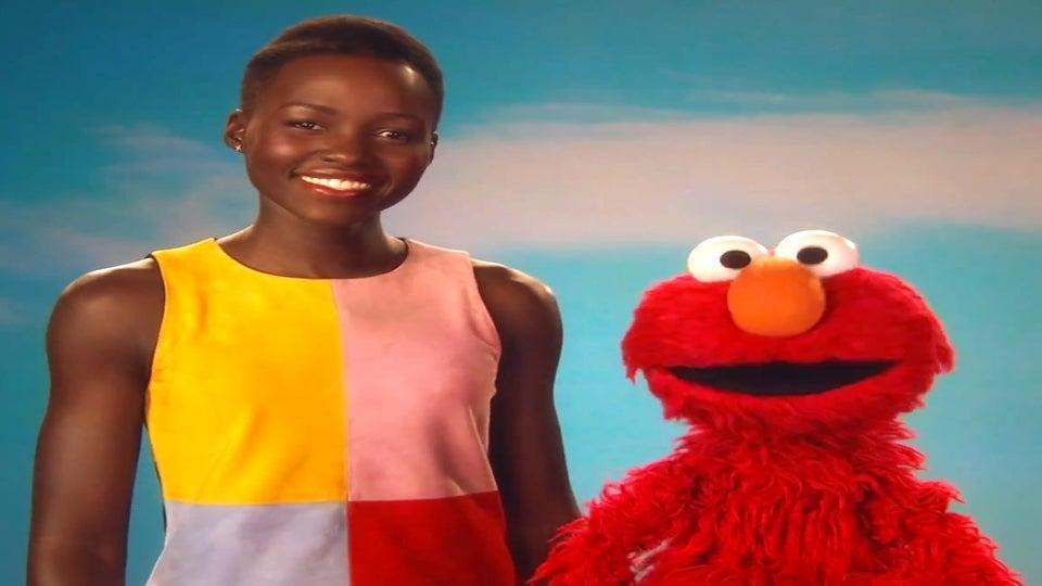 Must-See: Lupita Nyong'o Visits Elmo on 'Sesame Street'