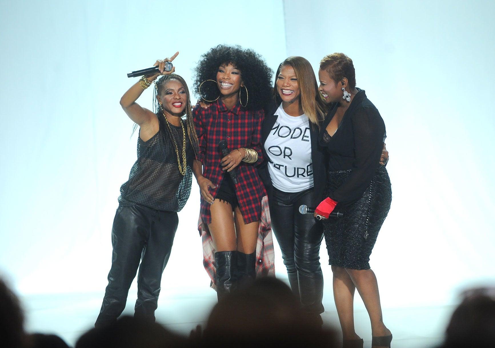 Must-See: Brandy, MC Lyte, Queen Latifah, Yo-Yo Reunite at BET Hip-Hop Awards