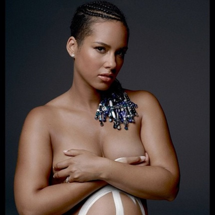 Coffee Talk: Pregnant Alicia Keys Poses Nude for Charity