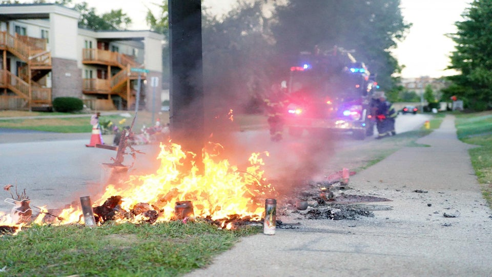 Police Investigating Cause of Fire at Michael Brown Memorial Site