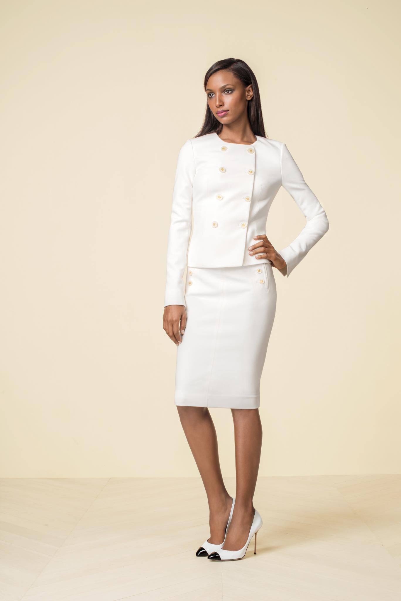 67d611db The Limited Scandal Collection. Double Breasted Jacket, $158, Officers  Pencil Skirt, $79 at thelimited.com.