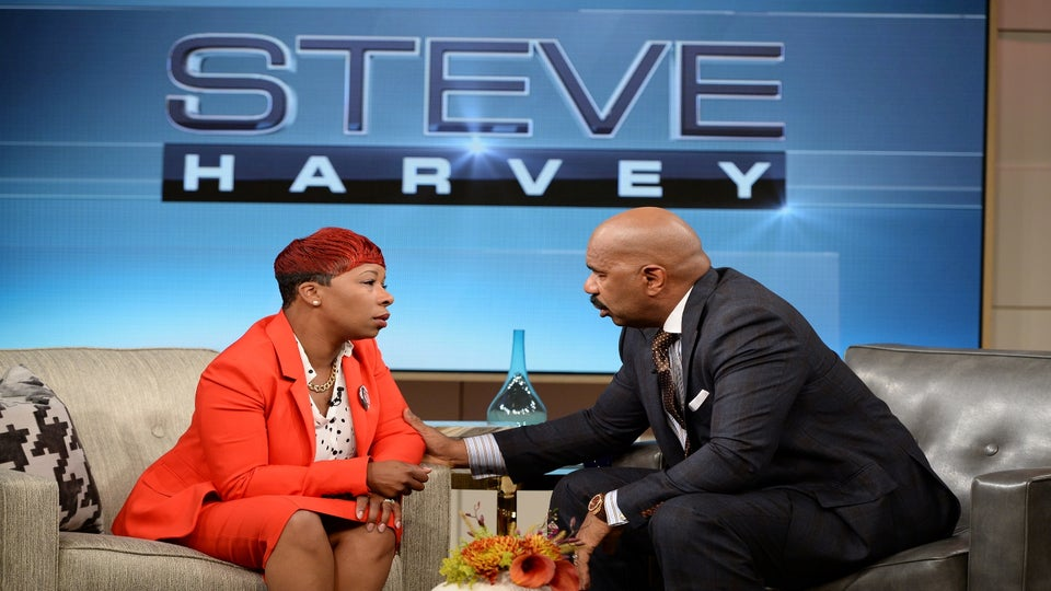 Must-See: Steve Harvey Close to Tears During Interview with Michael Brown's Mother
