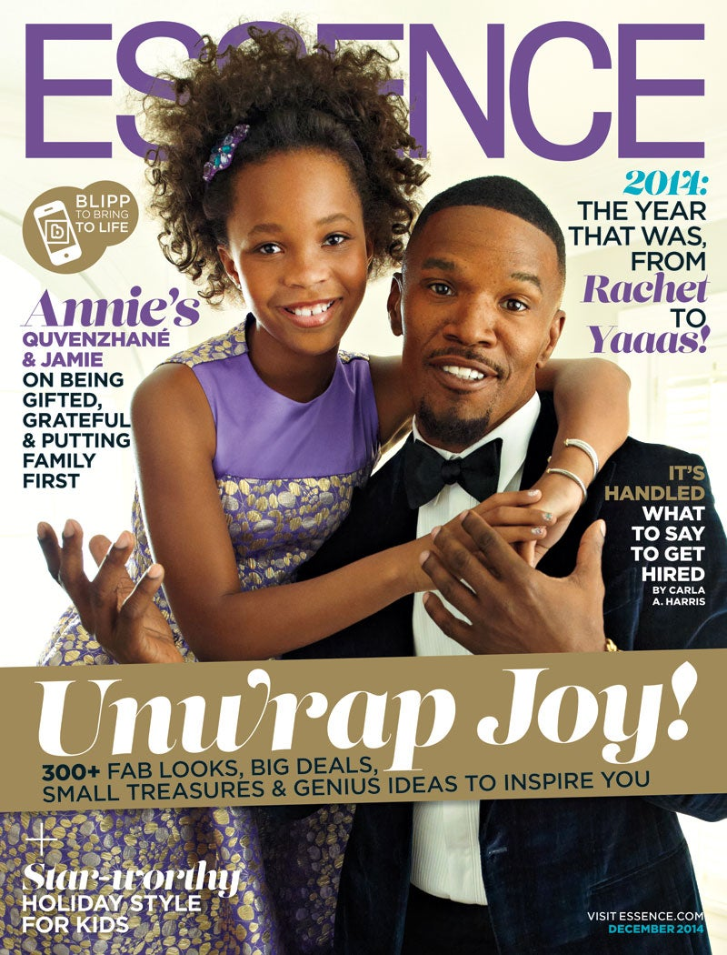 Jamie Foxx and Quvenzhané Wallis Bring Holiday Magic to the ESSENCE December Cover