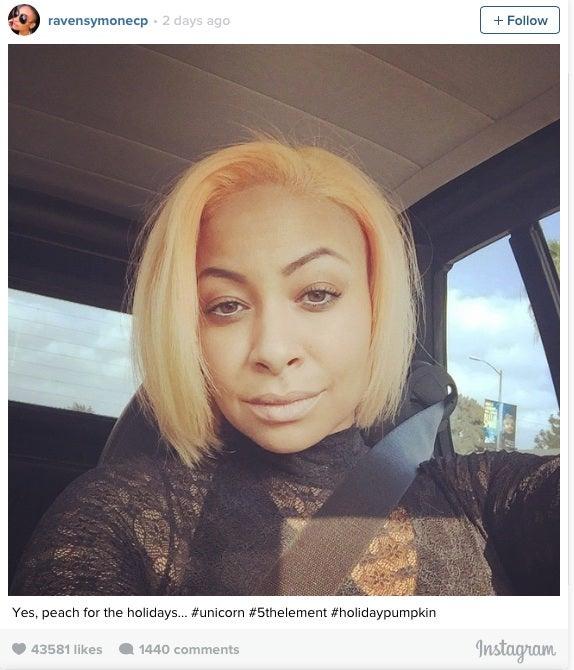 Raven-Symoné Dyes Her Hair Peach For the Holidays