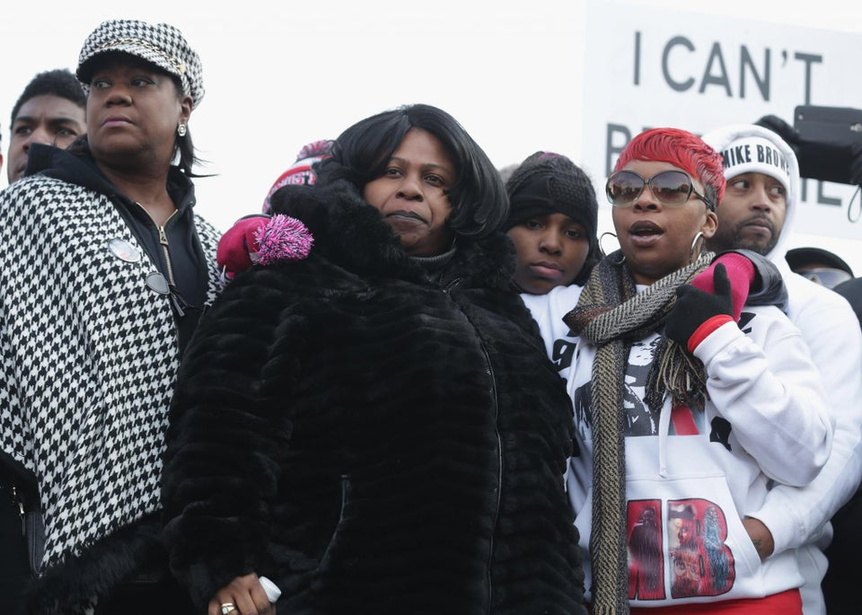 """The Families of Trayvon Martin, Eric Garner, Michael Brown and Tamir Rice Join """"Justice for All"""" March"""