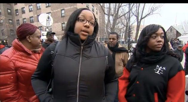 Eric Garner's Daughter Visits NYPD Memorial