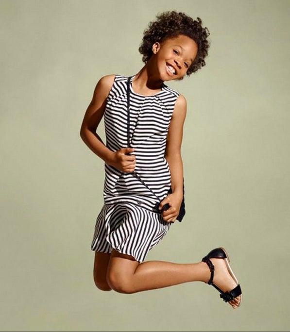 ESSENCE Covergirl Quvenzhané Wallis Shines in Armani Junior Campaign