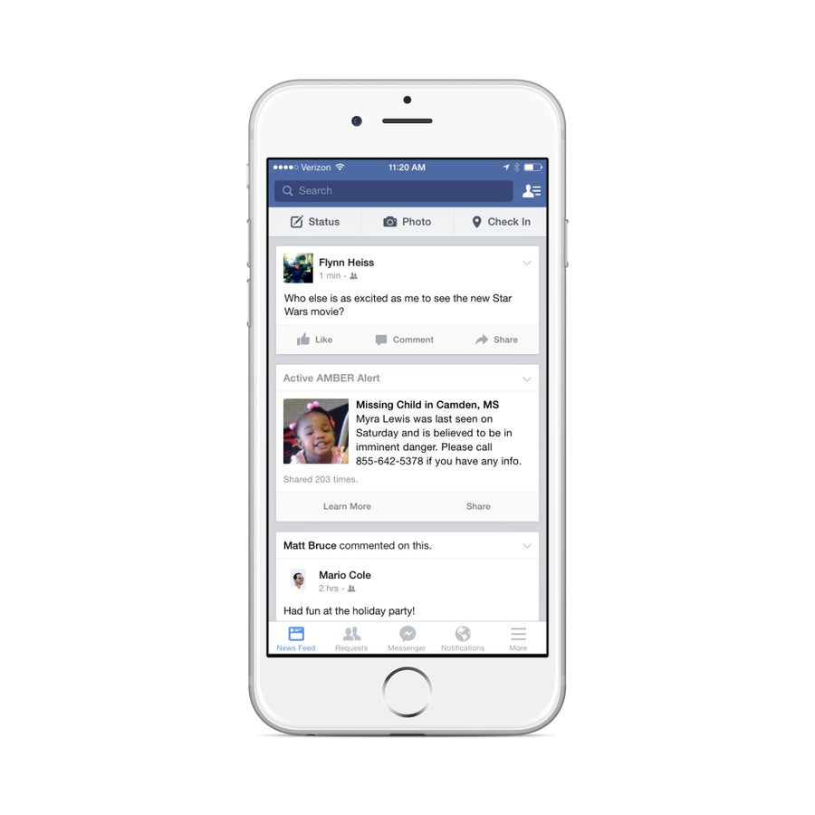 Facebook to Start Posting Amber Alerts to Newsfeeds