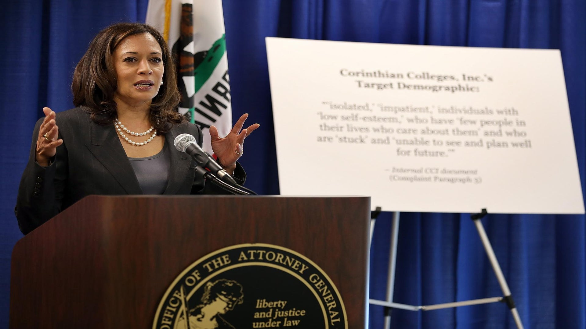 California Attorney General Kamala Harris Announces Senate Bid