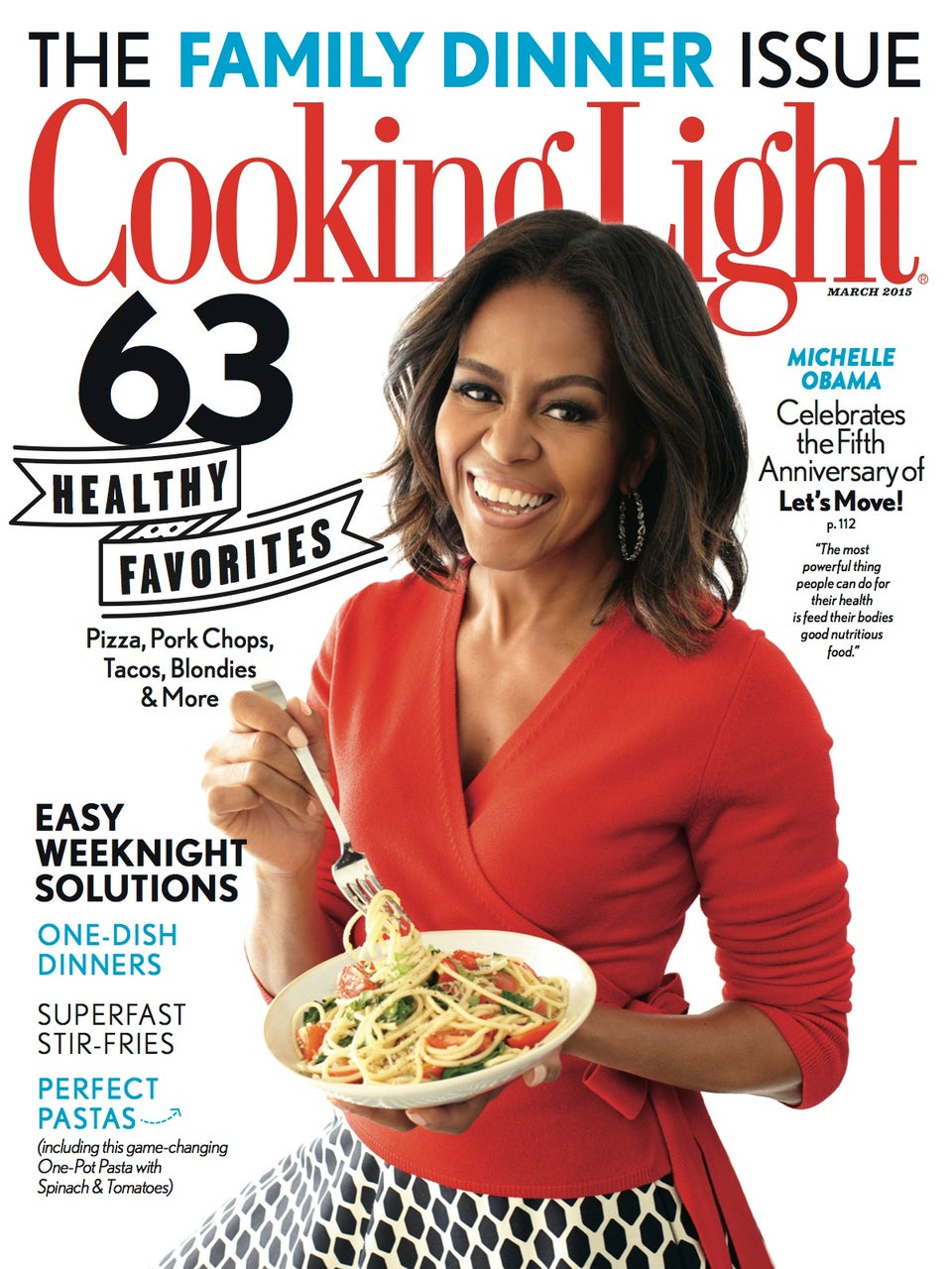 Michelle Obama Covers the March 2015 Issue of 'Cooking Light'