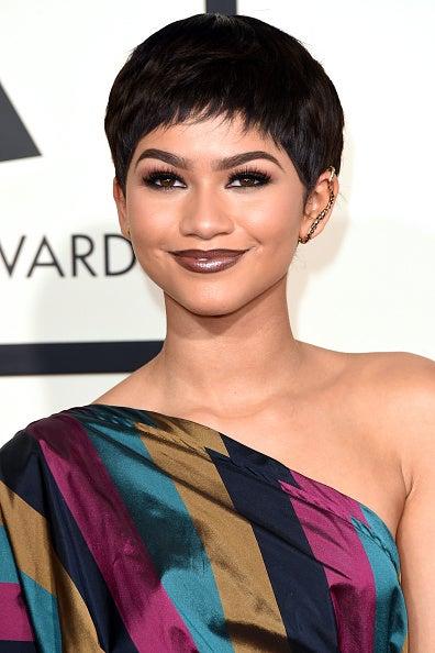 Zendaya Debuts a Pixie Cut at the Grammys