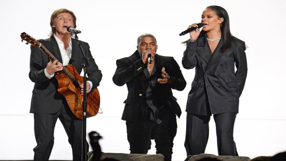 Watch Beyoncé, Pharrell, Rihanna, John Legend and Common's Grammy Performances