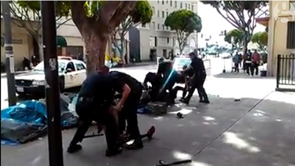 Video Captures LAPD Officers Fatally Shooting Homeless Man