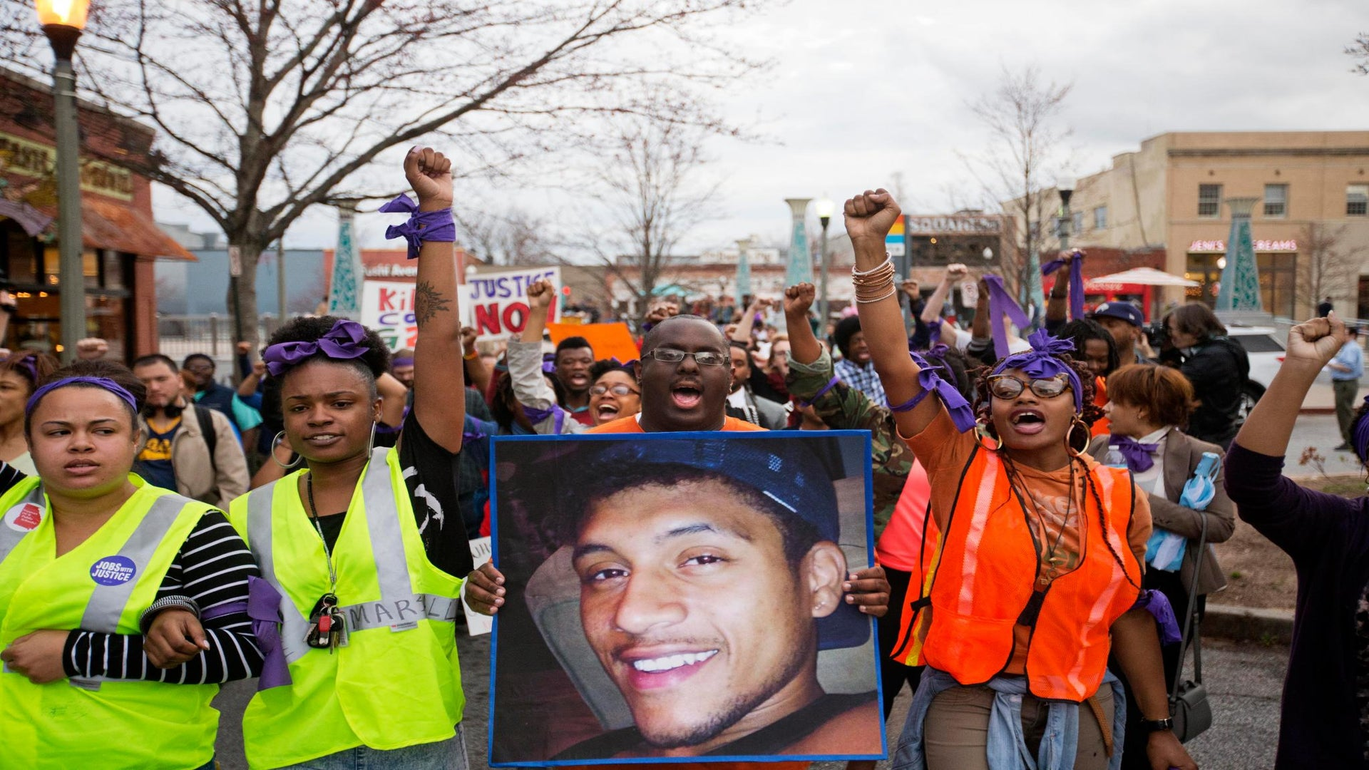 Hundreds Gather to Protest the Shooting Death of Unarmed Georgia Man Anthony Hill