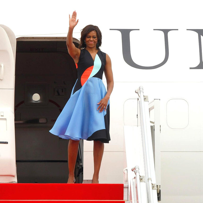 52 Times Michelle Obama Looked Pretty in Prints