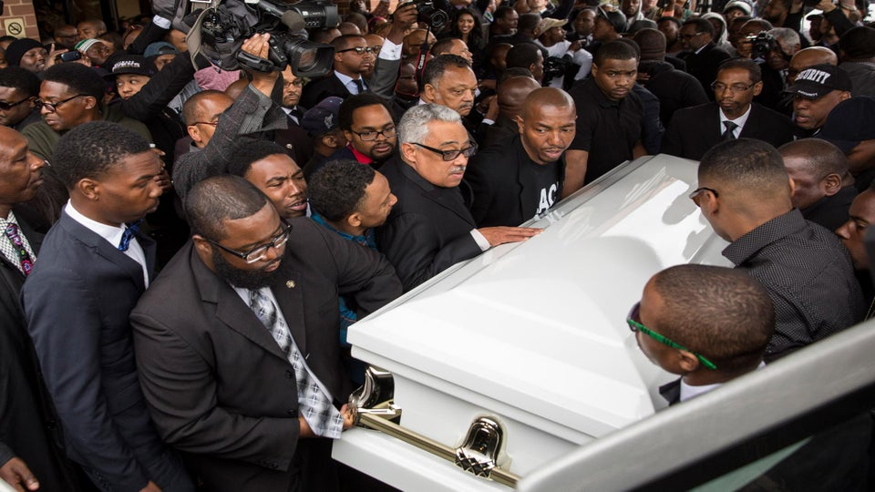Thousands of Mourners Gather at Freddie Gray's Funeral