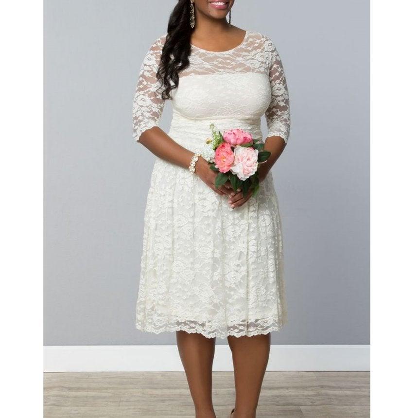 15 Curvy Girl Bridal Gowns Under $500