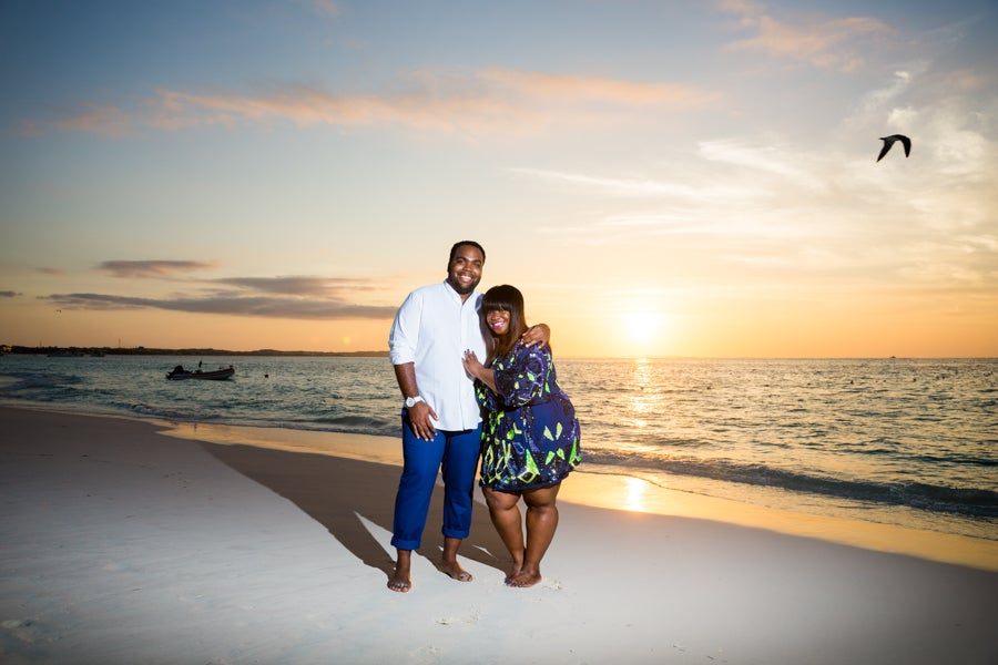Just Engaged: Yanique and Rondel's Turks and Caicos Surprise Proposal