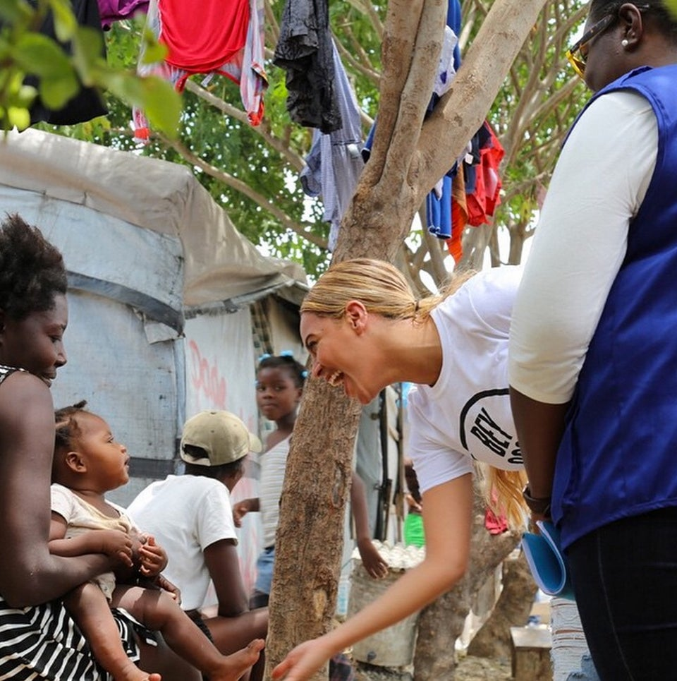 Must See: Beyoncé Visits Children's Hospital During Trip to Haiti