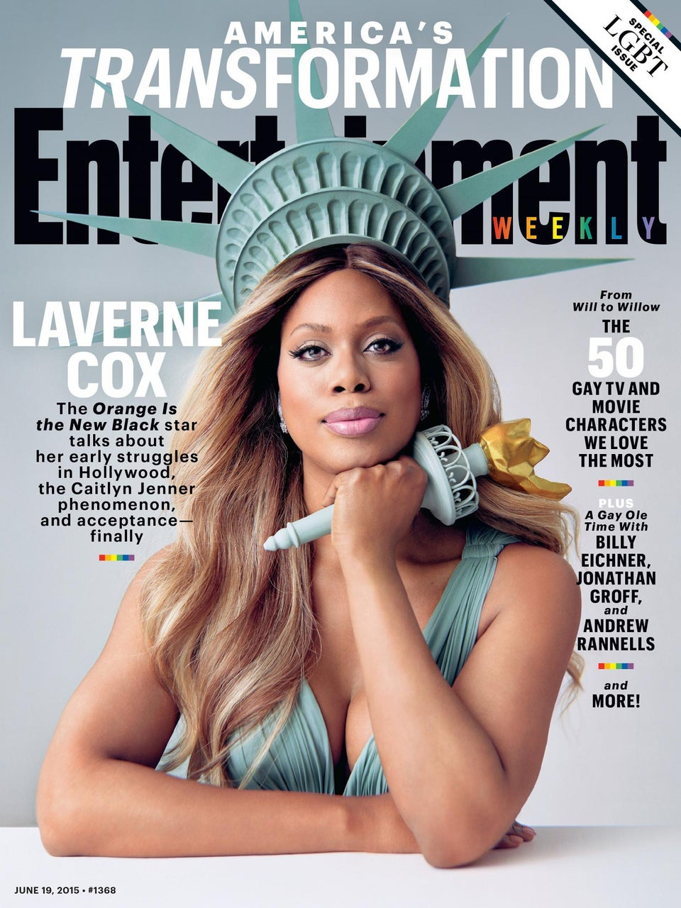 Laverne Cox Slays on the Cover of Entertainment Weekly's LGBT issue