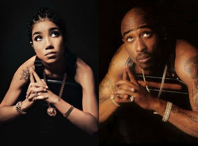 Jhené Aiko Celebrates Tupac's 44th Birthday by Recreating His Most Memorable Photos