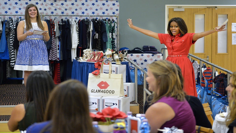 Michelle Obama Throws Surprise Baby Shower for Military Moms-To-Be