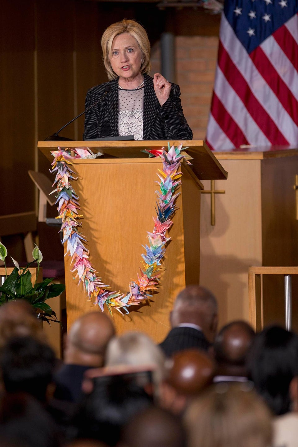 Hillary Clinton Addresses Charleston, Race Relations During Campaign Stop in Ferguson