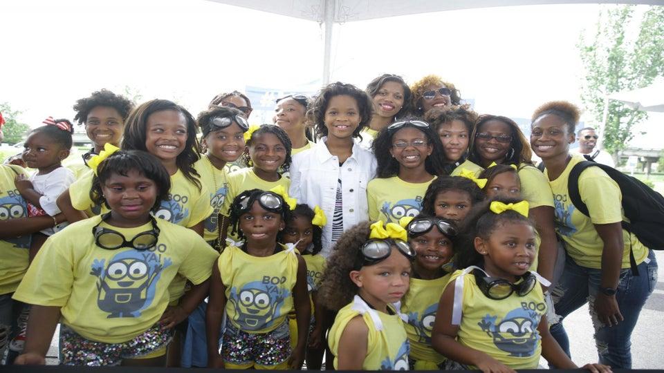 Quvenzhané Wallis, Cupid Treat Fans At ESSENCE Community Health Fair