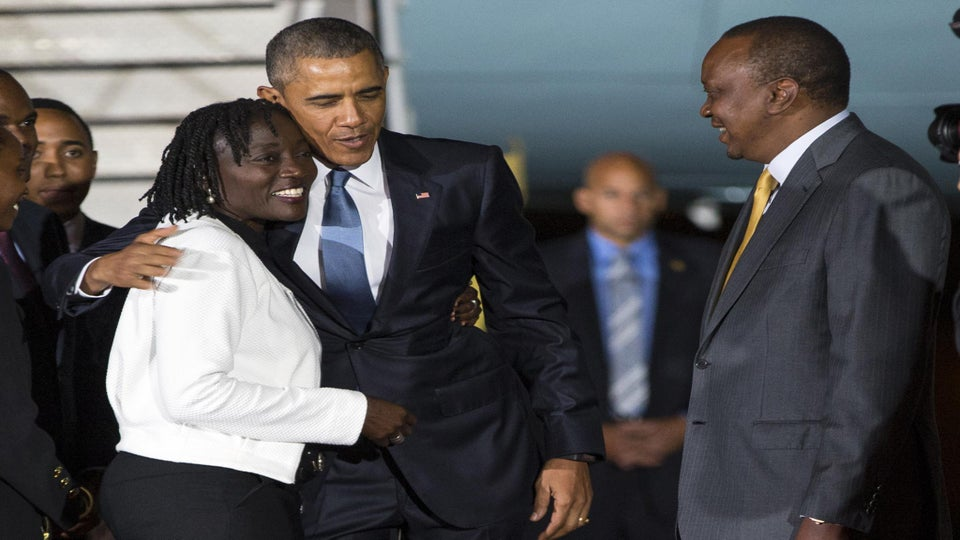President Obama Visits Half-Sister in Kenya