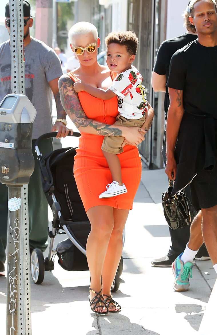 Amber Rose Wants Her Son to Grow Up to Be a Feminist