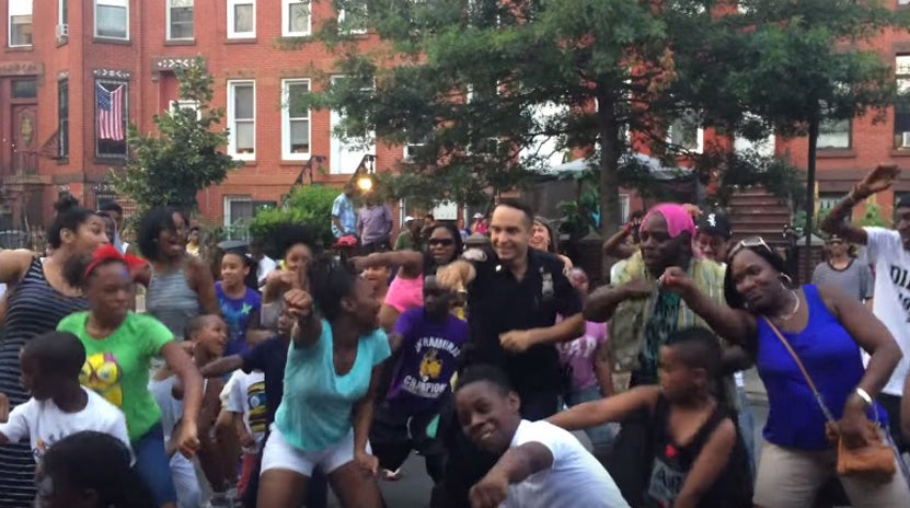 Must See: Watch An NYPD Officer 'Whip/Nae-Nae' At a Brooklyn Block Party