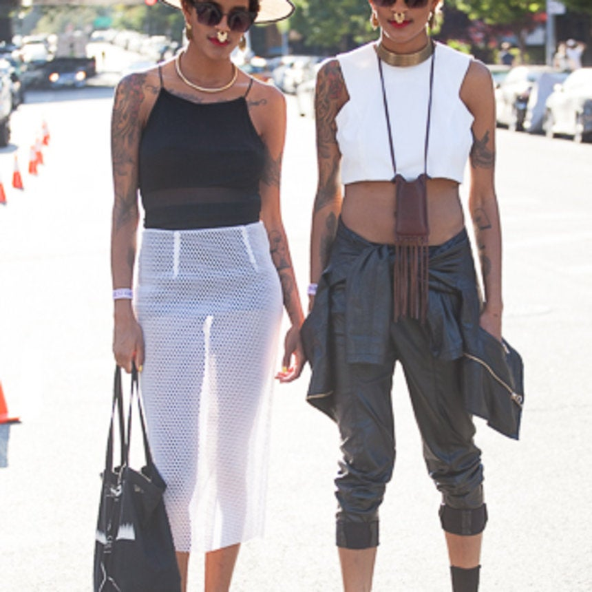 Street Style: Bold & Beautiful Punk Princesses from AFROPUNK Fest