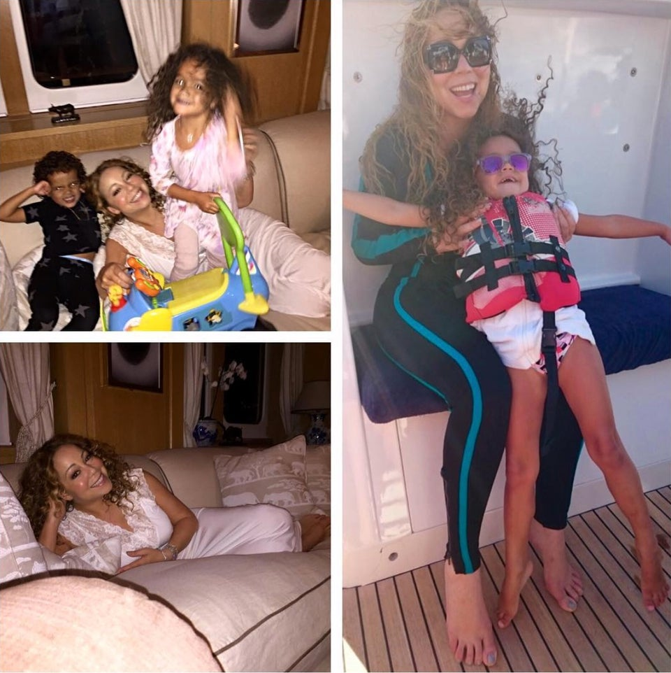 Must-See: Mariah Carey Shares Adorable Vacation Pictures With 'Dem Babies'