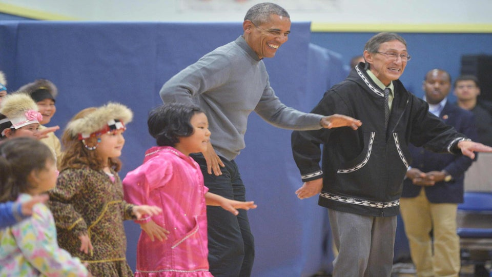 Must See: President Obama Joins in on Native Dance With Students in Alaska