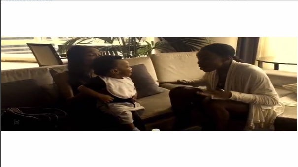 Must See: Kelly Rowland and Michelle Williams Serenade Baby Titan