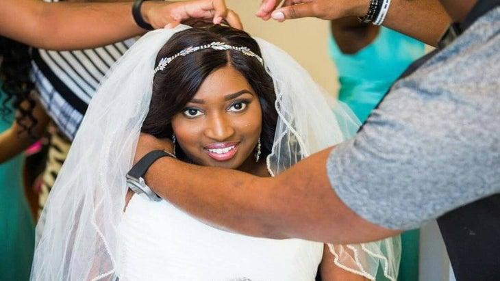 Cancer-Stricken Bride Gifted Dream Wedding Hair from Stylist