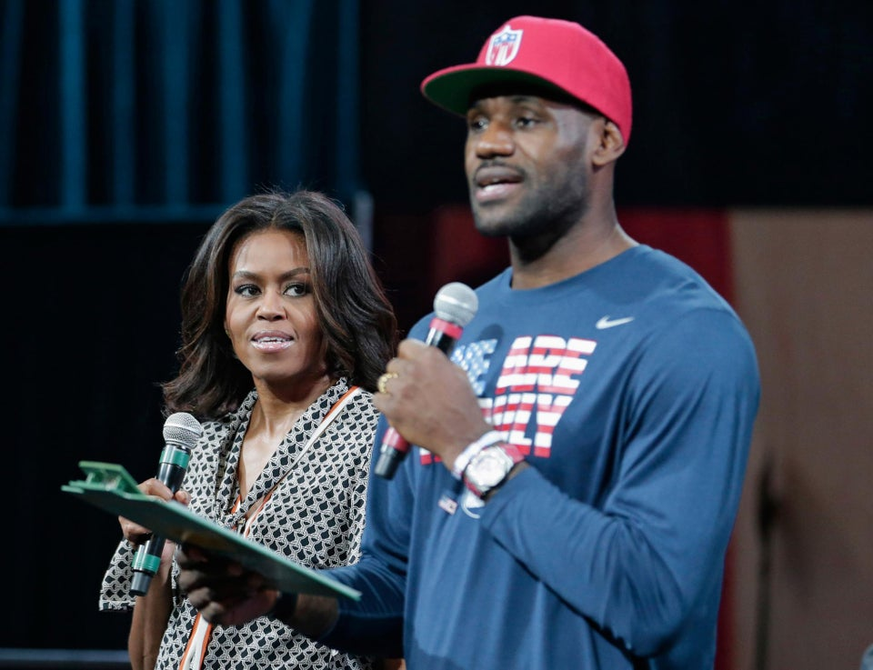 Michelle Obama Joins Forces With LeBron James to Get Teens Psyched for College