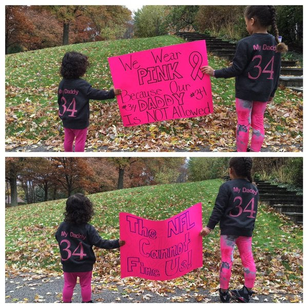 NFL Star DeAngelo Williams' Daughters Send Strong Breast Cancer Awareness Message
