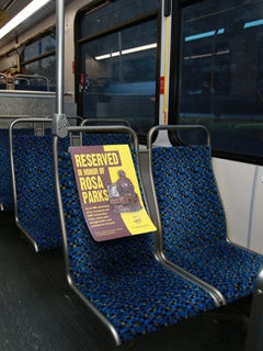 Rosa Parks Honored by Dallas City Buses with Reserved Seating in Front of Buses