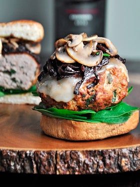 Food Blogger Christine Arel's Recipe for Spinach Turkey Burgers w/ Carmalized Onions