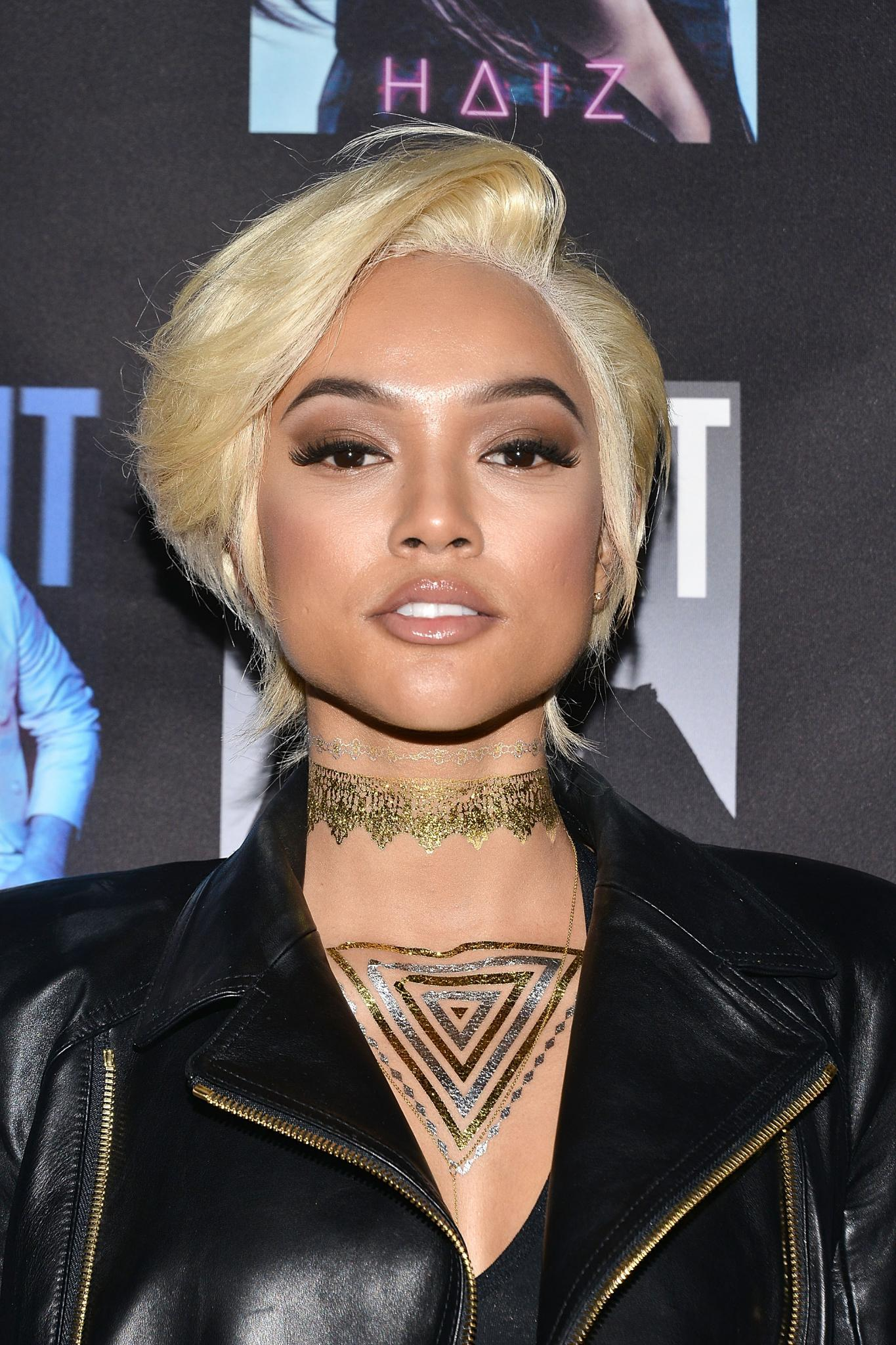 Karrueche Debuts Blonde Cut