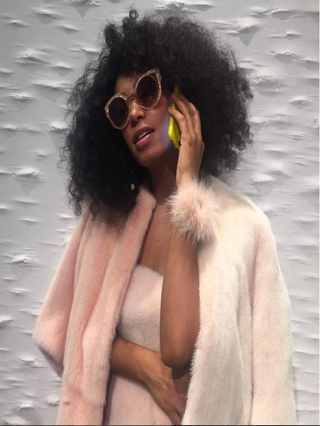 Solange Designs and Models an Outfit Made From Dry Cleaning Bags and Completely Slays