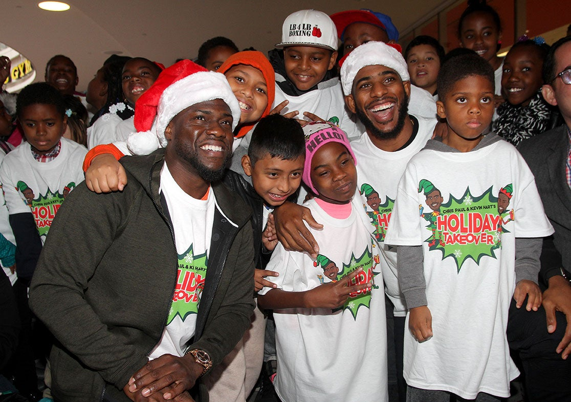 Kevin Hart and Chris Paul Teach L.A. Kids Valuable Christmas Lesson