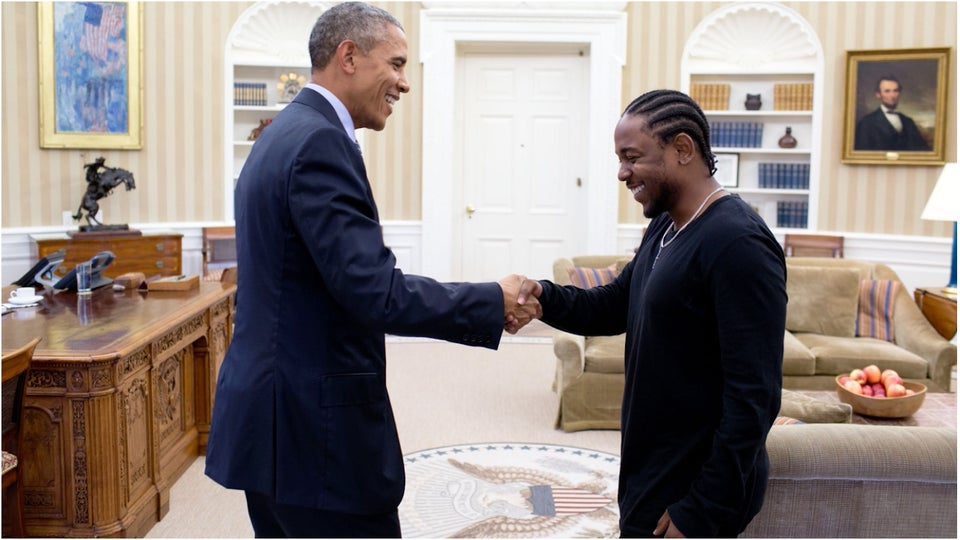 POTUS and Kendrick Lamar Had a Sit-Down Meeting in the Oval Office (Yes, Really)