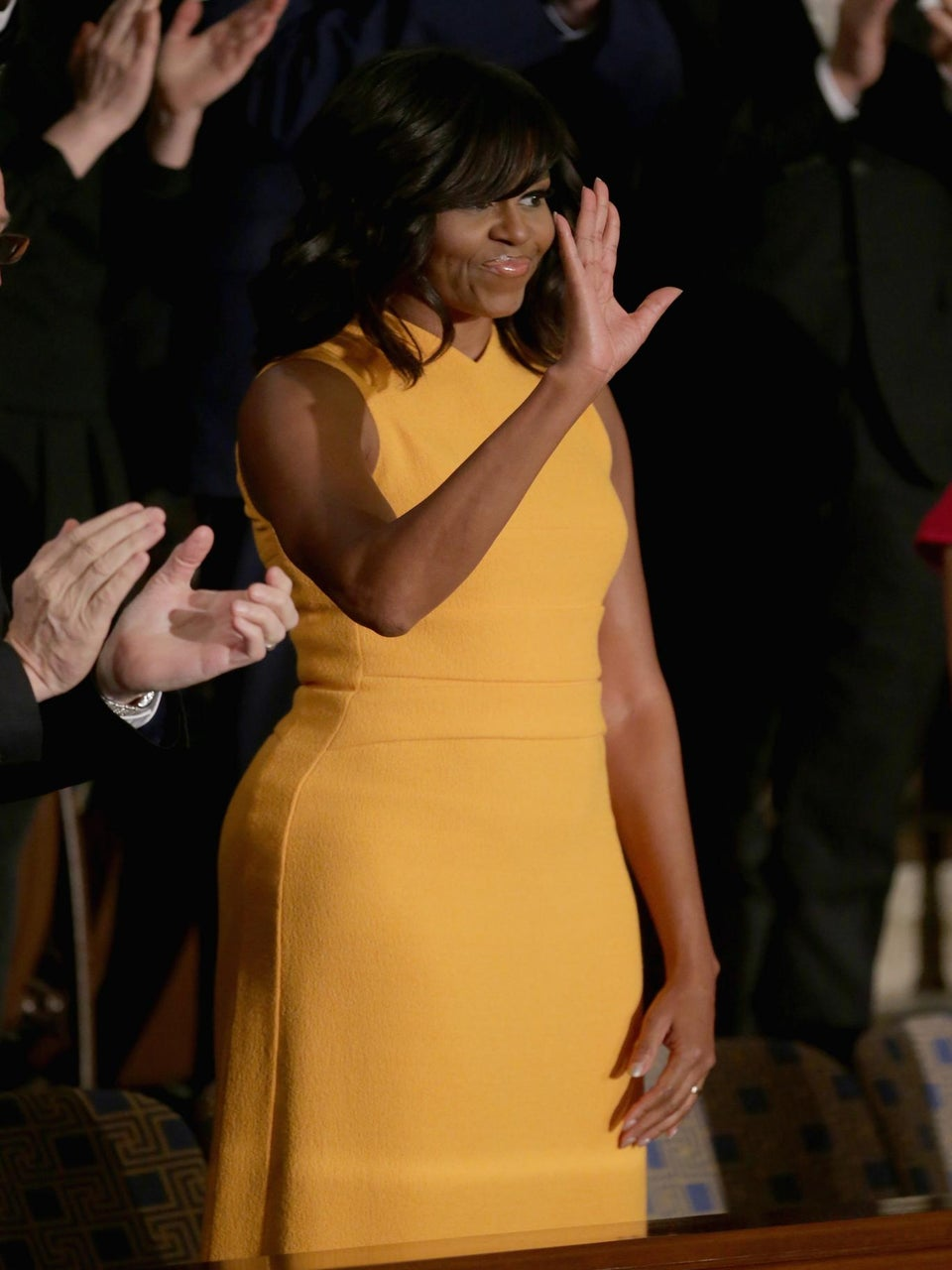 Michelle Obama's State of the Union Narciso Rodriguez Dress Stole the Show