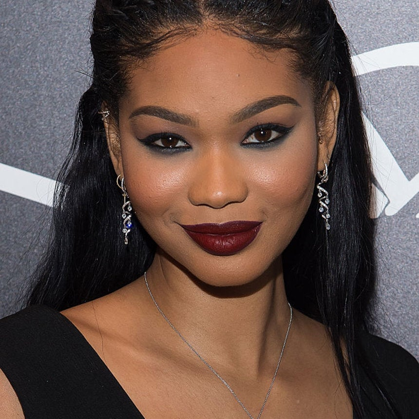 Chanel Iman's Reverse Smokey Eye + Berry Lip Combo is Everything We Want in Life