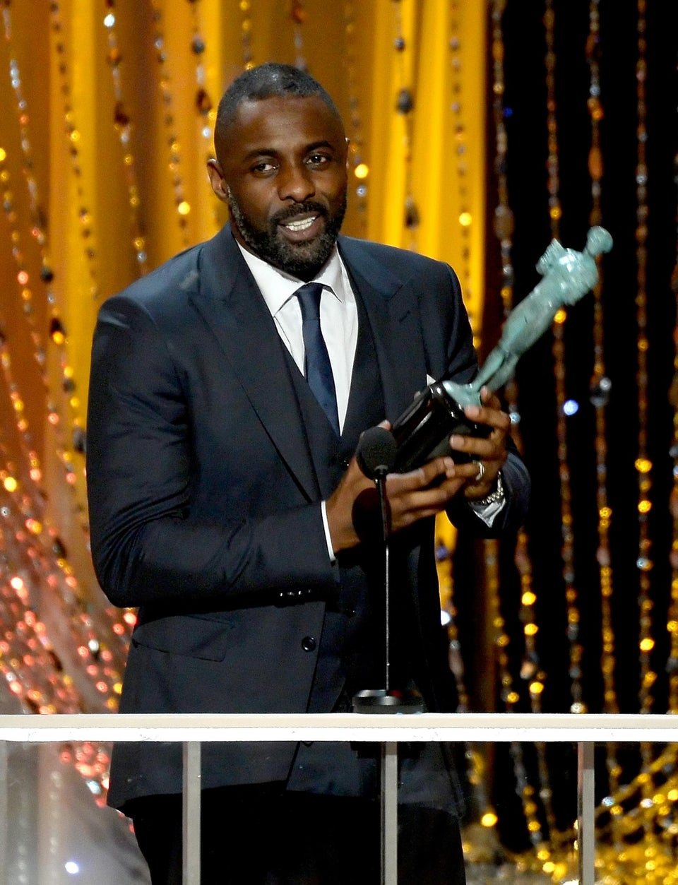 Idris Elba Takes Home SAG Awards for Both 'Luther' and 'Beasts of No Nation'