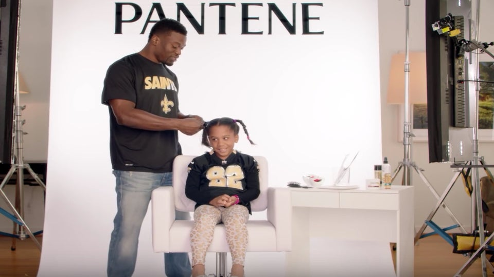 Must See: NFL Players Do Their Daughters' Hair in Super Bowl Commercials