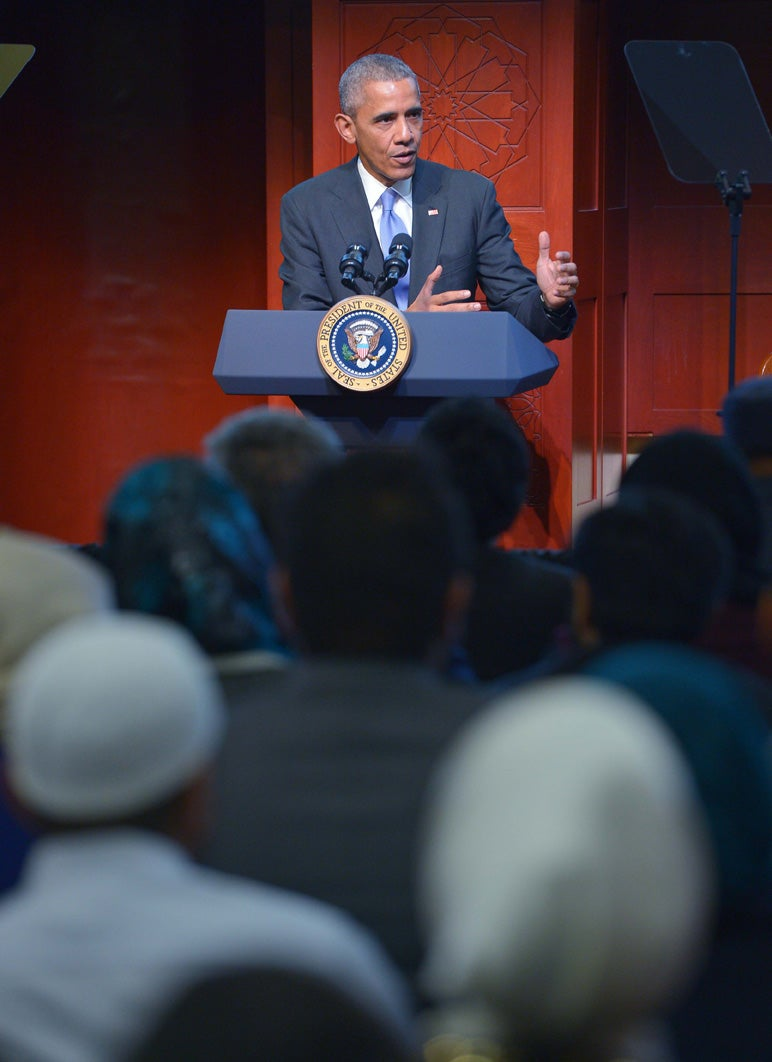 President Obama Visits Mosque, 'We are one American family.'